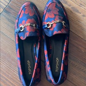 Topshop Shoes - TOP SHOP red blue loafers 7.5